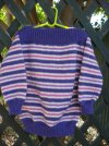 Simple Childs 8 Ply Striped Jumper