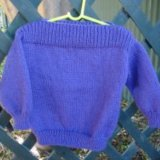 Simple Childs 8 Ply Jumper With Dropped Shoulders