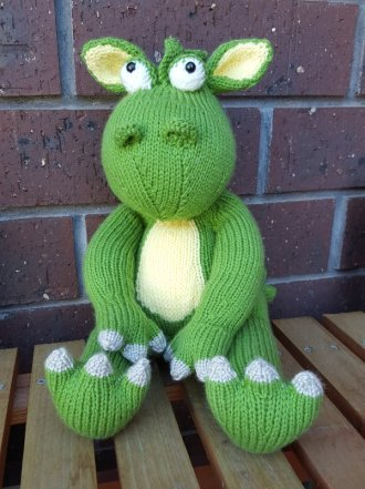 Hand Knitted Dragon Toy
