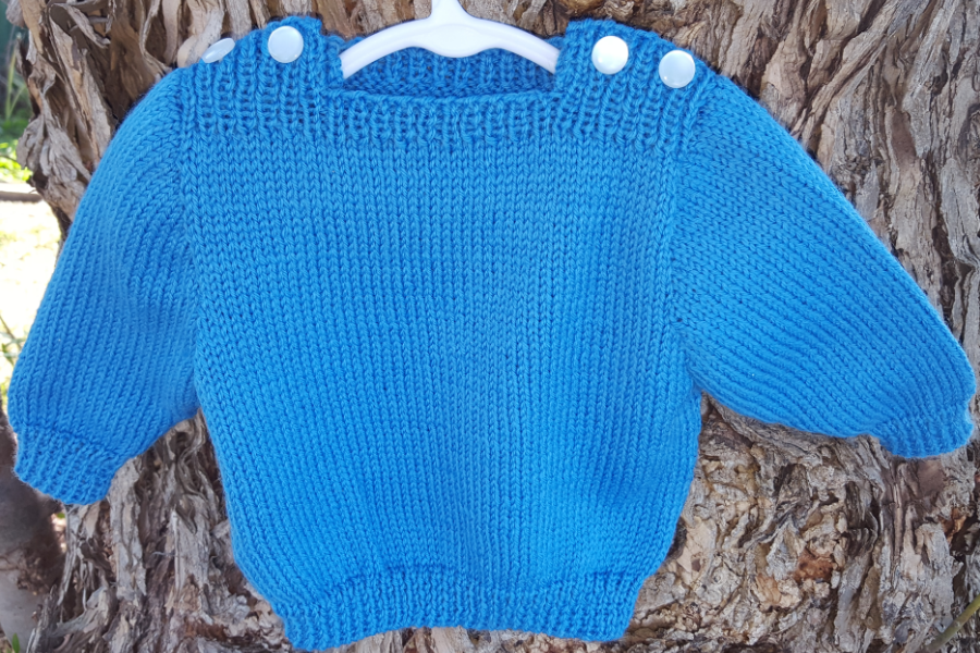 Free Easy Knitting Baby Sweater Pattern