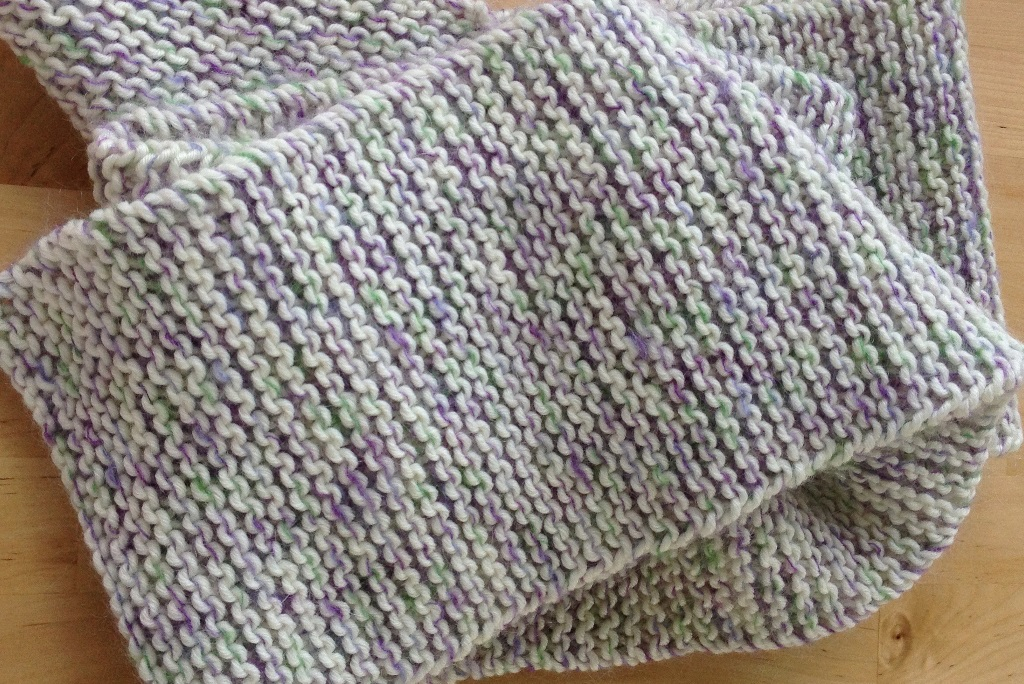 Knitted Stockinette Stitch Scarf Pattern : Knitting Terms