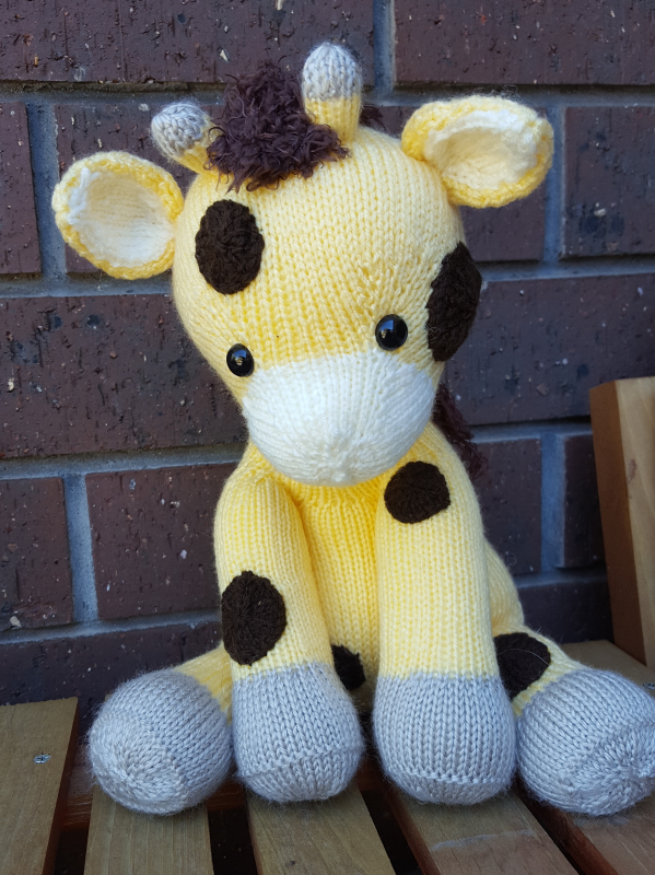 Hand Knitted Giraffe Toy