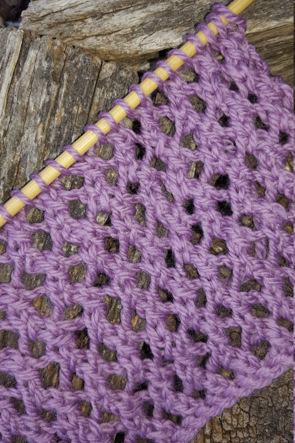 Braided Openwork Lace Knitting Stitch Pattern