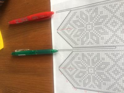 Knitting Graph of the Sock Pattern
