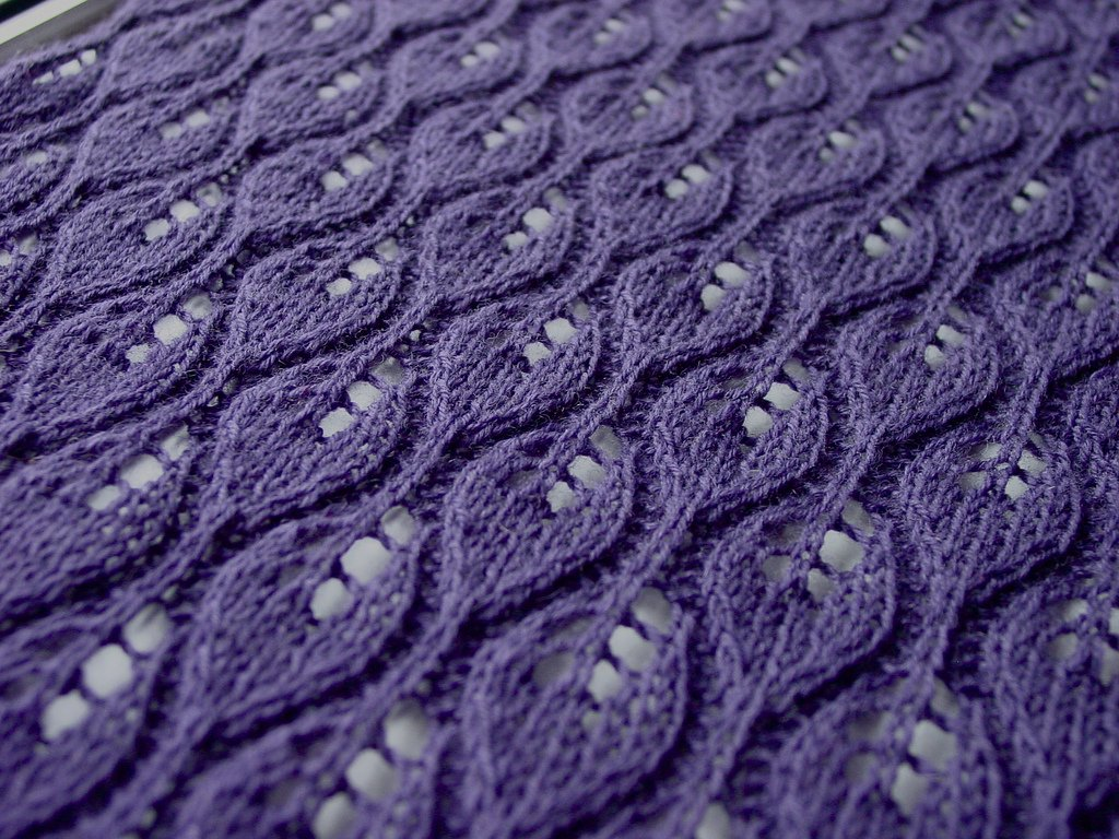 Simple Lace Knitting Pattern