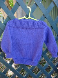 Simple Childs 8-Ply Jumper with Dropped Shoulders